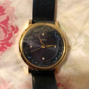 Timex Blue/Gold Watch